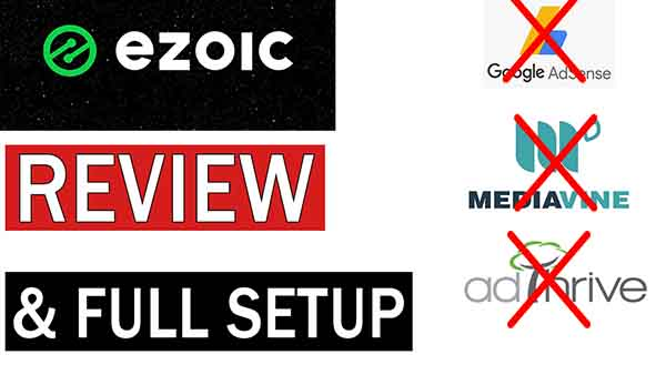 Ezoic Full Review , Ezoic vs adsense, small size