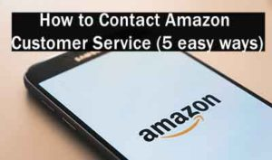 how to contact amazon customer service via email, chat, phone, social media