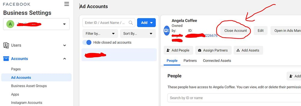 How to close a Facebook ad account 2