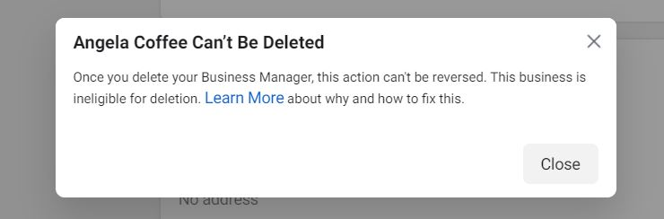 How to delete a Facebook ad account 3