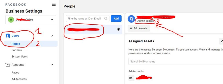 how to find out role in Facebook business manager
