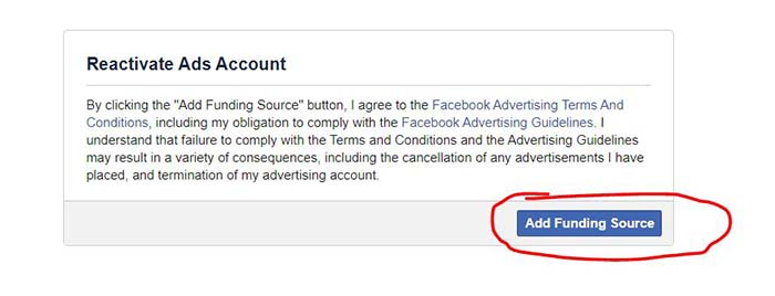 how to reactivate a disabled FB ad account - 2