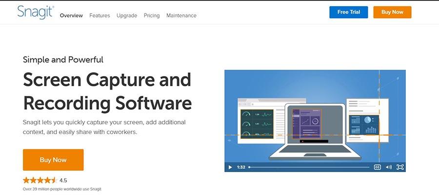 snagit app for screenshot on windows